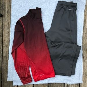 Nike youth XL bundle • long-sleeved top and pants